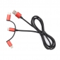 Wholesale 3 in 1 cable Micro USB data transfer charging for Android Mobile Phone and IPhone(red and black)